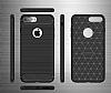 Eiroo Carbon Shield iPhone 7 Plus Ultra Koruma Siyah Kılıf - Resim 3