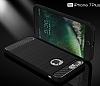 Eiroo Carbon Shield iPhone 7 Plus Ultra Koruma Siyah Kılıf - Resim 7