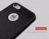 Eiroo Carbon Shield iPhone 7 / 8 Ultra Koruma Dark Silver Kılıf - Resim 8