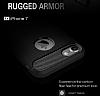 Eiroo Carbon Shield iPhone 7 / 8 Ultra Koruma Dark Silver Kılıf - Resim 5