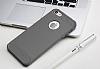 Eiroo Carbon Shield iPhone 7 / 8 Ultra Koruma Dark Silver Kılıf - Resim 9
