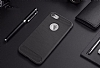 Eiroo Carbon Shield iPhone 7 / 8 Ultra Koruma Dark Silver Kılıf - Resim 7