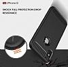 Eiroo Carbon Shield iPhone X Ultra Koruma Siyah Kılıf - Resim 6