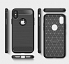 Eiroo Carbon Shield iPhone X Ultra Koruma Siyah Kılıf - Resim 7