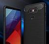 Eiroo Carbon Shield LG G6 Ultra Koruma Siyah Kılıf - Resim 6