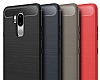 Eiroo Carbon Shield LG G7 ThinQ Ultra Koruma Lacivert Kılıf - Resim 4