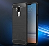 Eiroo Carbon Shield LG G7 ThinQ Ultra Koruma Lacivert Kılıf - Resim 3
