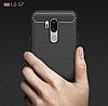 Eiroo Carbon Shield LG G7 ThinQ Ultra Koruma Lacivert Kılıf - Resim 5