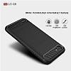 Eiroo Carbon Shield LG Q6 Ultra Koruma Lacivert Kılıf - Resim 1