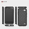 Eiroo Carbon Shield LG Q6 Ultra Koruma Lacivert Kılıf - Resim 4