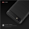 Eiroo Carbon Shield LG Q6 Ultra Koruma Lacivert Kılıf - Resim 6