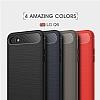 Eiroo Carbon Shield LG Q6 Ultra Koruma Lacivert Kılıf - Resim 8