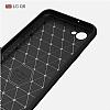 Eiroo Carbon Shield LG Q6 Ultra Koruma Lacivert Kılıf - Resim 3