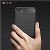 Eiroo Carbon Shield LG Q6 Ultra Koruma Lacivert Kılıf - Resim 7