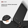 Eiroo Carbon Shield LG Q6 Ultra Koruma Lacivert Kılıf - Resim 5