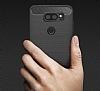 Eiroo Carbon Shield LG V30 Ultra Koruma Lacivert Kılıf - Resim 3