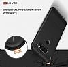 Eiroo Carbon Shield LG V30 Ultra Koruma Lacivert Kılıf - Resim 4
