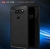 Eiroo Carbon Shield LG V30 Ultra Koruma Lacivert Kılıf - Resim 7