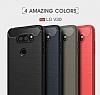 Eiroo Carbon Shield LG V30 Ultra Koruma Lacivert Kılıf - Resim 9