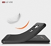 Eiroo Carbon Shield LG V30 Ultra Koruma Lacivert Kılıf - Resim 6
