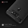Eiroo Carbon Shield LG V30 Ultra Koruma Lacivert Kılıf - Resim 5
