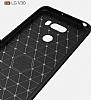 Eiroo Carbon Shield LG V30 Ultra Koruma Lacivert Kılıf - Resim 2
