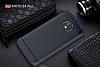 Eiroo Carbon Shield Motorola Moto E4 Plus Ultra Koruma Lacivert Kılıf - Resim 5