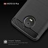 Eiroo Carbon Shield Motorola Moto E4 Plus Ultra Koruma Lacivert Kılıf - Resim 3