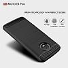 Eiroo Carbon Shield Motorola Moto E4 Plus Ultra Koruma Lacivert Kılıf - Resim 2