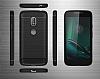 Eiroo Carbon Shield Motorola Moto G4 Ultra Koruma Siyah Kılıf - Resim 7