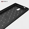 Eiroo Carbon Shield Nokia 3 Ultra Koruma Dark Silver Kılıf - Resim 4