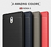Eiroo Carbon Shield Nokia 3 Ultra Koruma Dark Silver Kılıf - Resim 9