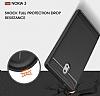 Eiroo Carbon Shield Nokia 3 Ultra Koruma Dark Silver Kılıf - Resim 2
