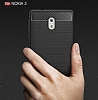 Eiroo Carbon Shield Nokia 3 Ultra Koruma Dark Silver Kılıf - Resim 8