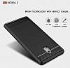Eiroo Carbon Shield Nokia 3 Ultra Koruma Siyah Kılıf - Resim 1