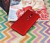 Nokia 6 2018 Mat Kırmızı Silikon Kılıf - Resim 1