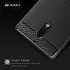 Eiroo Carbon Shield Nokia 6 Ultra Koruma Siyah Kılıf - Resim 7