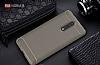 Eiroo Carbon Shield Nokia 8 Ultra Koruma Gri Kılıf - Resim 1