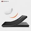 Eiroo Carbon Shield Nokia 8 Ultra Koruma Gri Kılıf - Resim 2