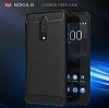 Eiroo Carbon Shield Nokia 8 Ultra Koruma Gri Kılıf - Resim 5