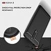Eiroo Carbon Shield Nokia 8 Ultra Koruma Gri Kılıf - Resim 6