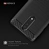 Eiroo Carbon Shield Nokia 8 Ultra Koruma Gri Kılıf - Resim 4