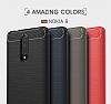 Eiroo Carbon Shield Nokia 8 Ultra Koruma Gri Kılıf - Resim 10