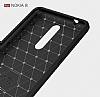 Eiroo Carbon Shield Nokia 8 Ultra Koruma Gri Kılıf - Resim 7