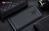 Eiroo Carbon Shield Nokia 8 Ultra Koruma Lacivert Kılıf - Resim 1