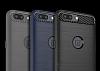 Eiroo Carbon Shield OnePlus 5 Ultra Koruma Lacivert Kılıf - Resim 10