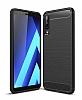 Eiroo Carbon Shield Samsung Galaxy A7 2018 Ultra Koruma Siyah Kılıf
