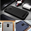 Eiroo Carbon Shield Samsung Galaxy A8 2018 Ultra Koruma Lacivert Kılıf - Resim 2