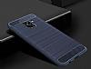 Eiroo Carbon Shield Samsung Galaxy A8 2018 Ultra Koruma Lacivert Kılıf - Resim 3