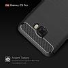 Eiroo Carbon Shield Samsung Galaxy C5 Pro Ultra Koruma Dark Silver Kılıf - Resim 3
